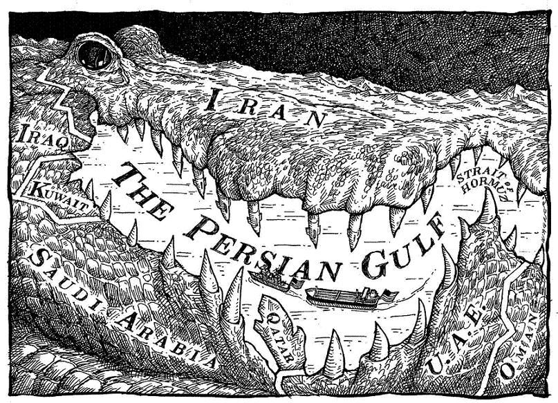 Resultado de imagen de iran iraq war cartoon
