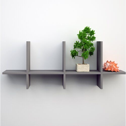 Emerald Interlocking Wall Shelf Urban Designs Finish Grey Ash