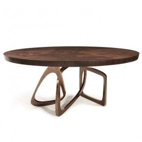 Dining Tables Round Bangle Walnut Top With Statuary Bronze Base Dimensions Approx 60 Dia X