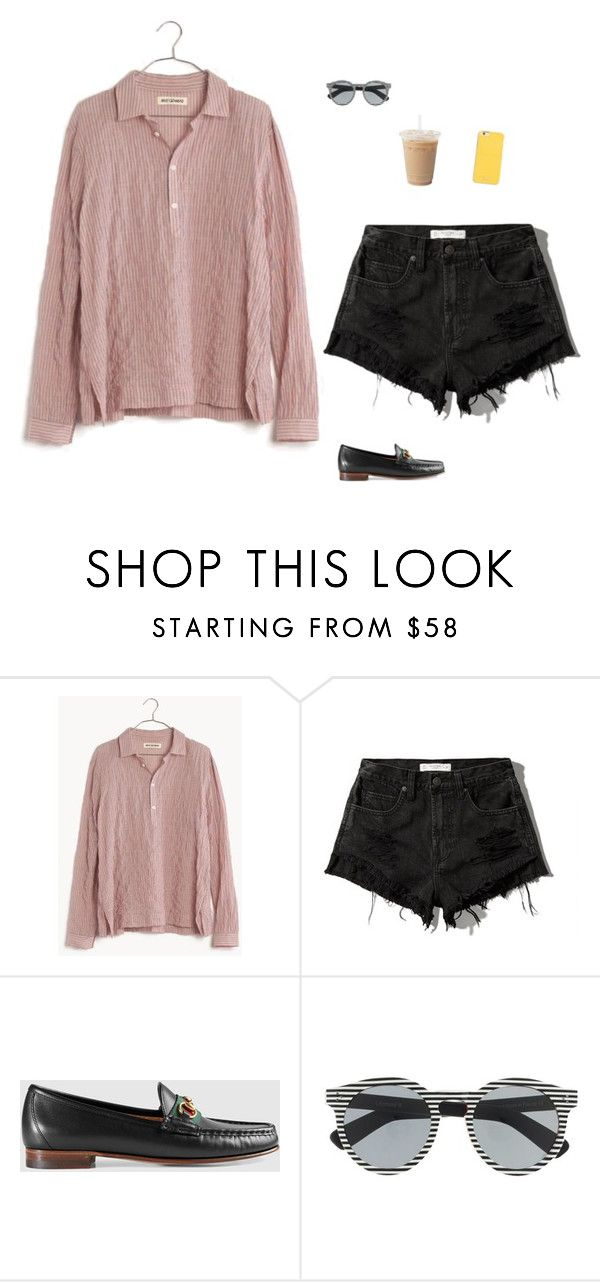 """Untitled #1620"" by tayloremily218 on Polyvore featuring Madewell, Abercrombie & Fitch, Gucci, Illesteva and MICHAEL Michael Kors"