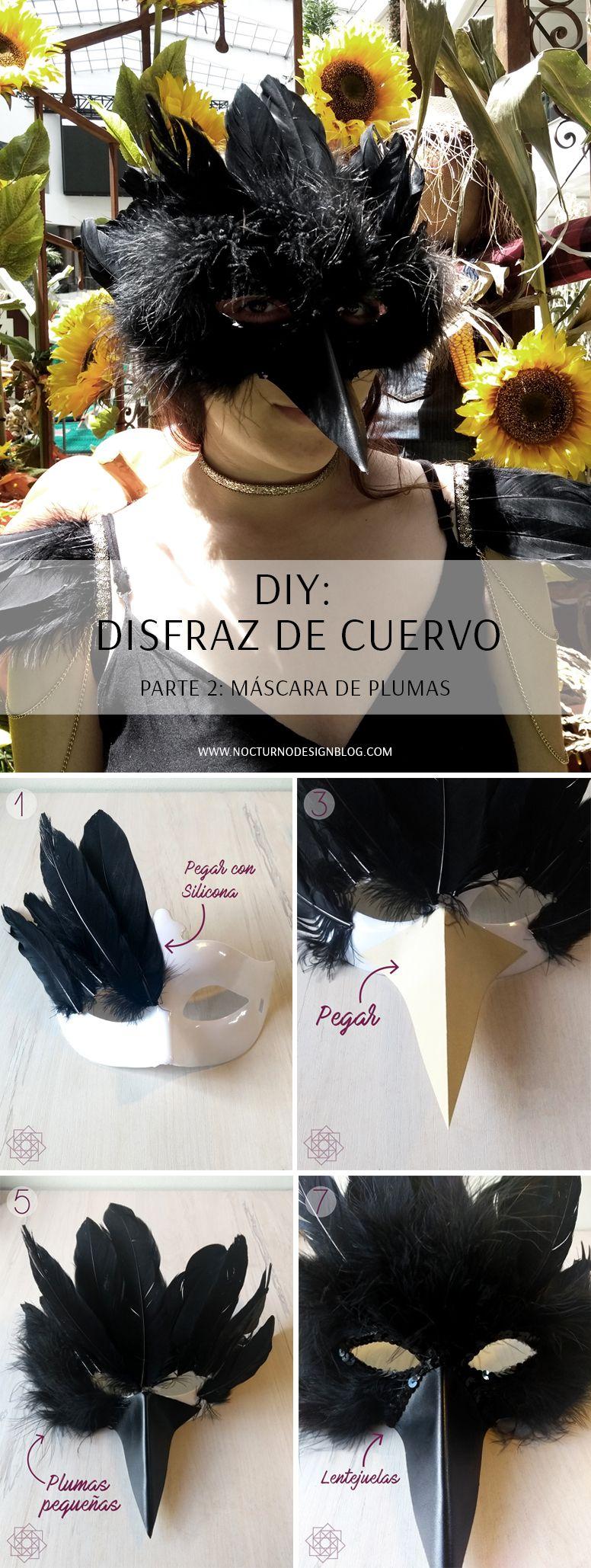 Diy Ideas Disfraz De Cuervo P2 Máscara Disfraz De Cuervo Diy Disfraz