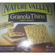 I just looked up Nature Valley Granola Thins, Dark Chocolate on @Fooducate  Fooducate grades foods based on their nutrients and ingredients.  Give it a try!