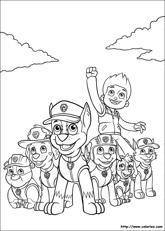 Pin by Paula Vanderhart on coloring pages | Pinterest | Paw patrol ...