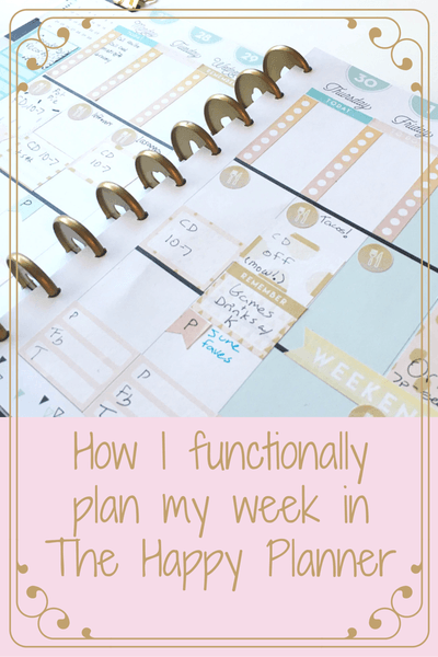 How I functionally plan my week in The Happy Planner.  I use stickers, washi, and other embellishments but focus on getting things done.