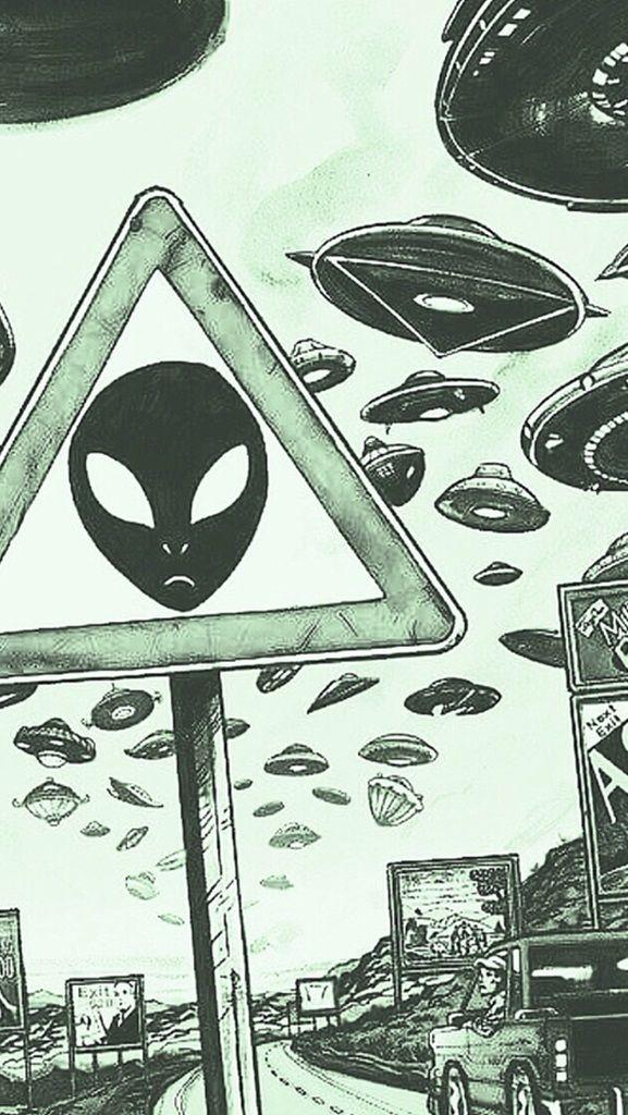 Fondo Alien Nd Ufo Geekery Wallp