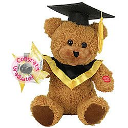 Animated Graduation Bear With LED Message  Congratulate the graduate with a special message delivered by this bear!