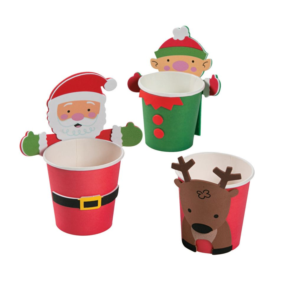Christmas Treat Cup Huggers Craft Kit | Products | Pinterest | Craft ...