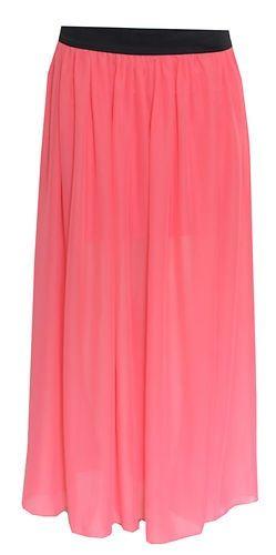 Plus Size Womens Chiffon Maxi Skirt Size 14 16 18 20 Sty   eBay