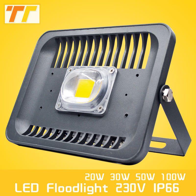 Led Flood Light Ip66 Projector Waterproof 100w 50w 30w 20w 220v 230v Floodlight Spotlight Outdoor Wall Lamp Outd Led Flood Lights Outdoor Wall Lamps Led Flood