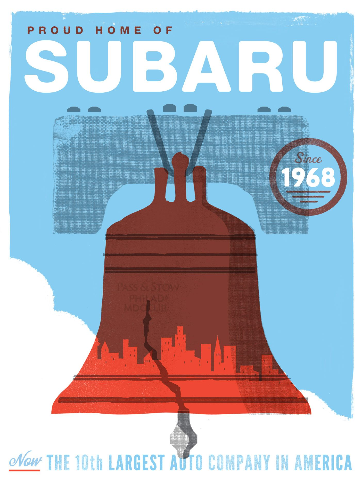 Subaru Philadelphia Poster Series The Heads Of State Moving - Subaru philadelphia