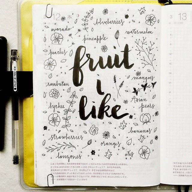 I need to get more fruit into my diet, maybe it's because the ones that I like are Asian and not widely available here. What is your favorite fruit? #hobonichi #stationery #journal #journaling #journalingprompts #artjournal #artjournaling #filofax #planner #diary #notebook #doodling #doodles #lettering #calligraphy #type #typography #handwriting #handlettering #scrapbooking #vscocam #midori #mtn #midoritravelersnotebook #travelersnotebook #brushlettering #brushpens #pens