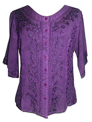 #125 Gypsy Medieval Renaissance Vintage Short Sleeve Top Blouse[Purple; 2X] Agan Traders http://www.amazon.com/dp/B00KZT6VHC/ref=cm_sw_r_pi_dp_JbYrvb0TH6BKV