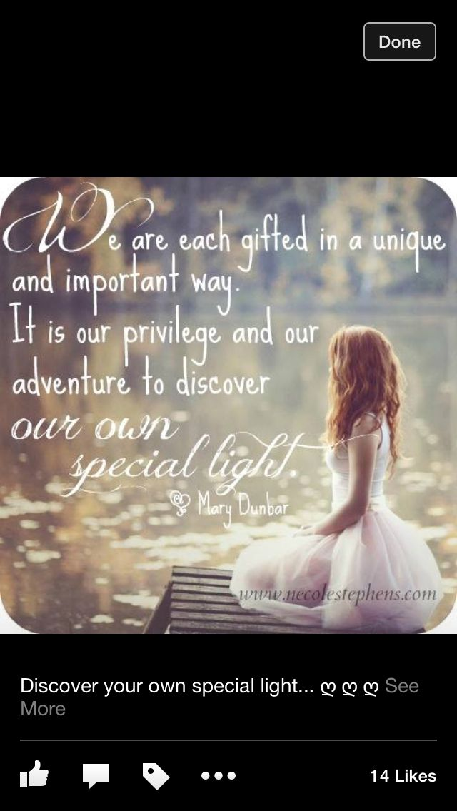 Discover your own special light.