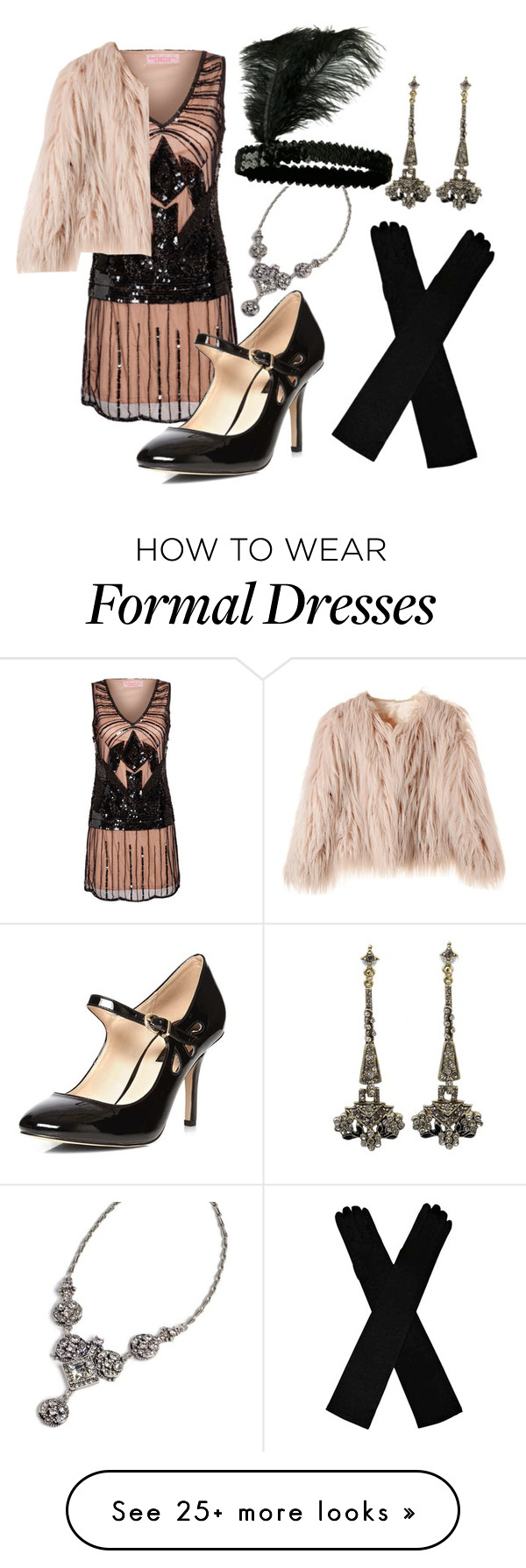 """""""1920s inspired"""" by haleycook56 on Polyvore featuring Dorothy Perkins and Sweet Romance"""