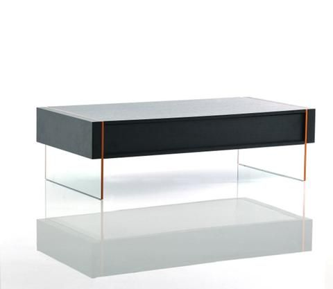 Modrest Vision Modern Black Oak Floating Coffee Table