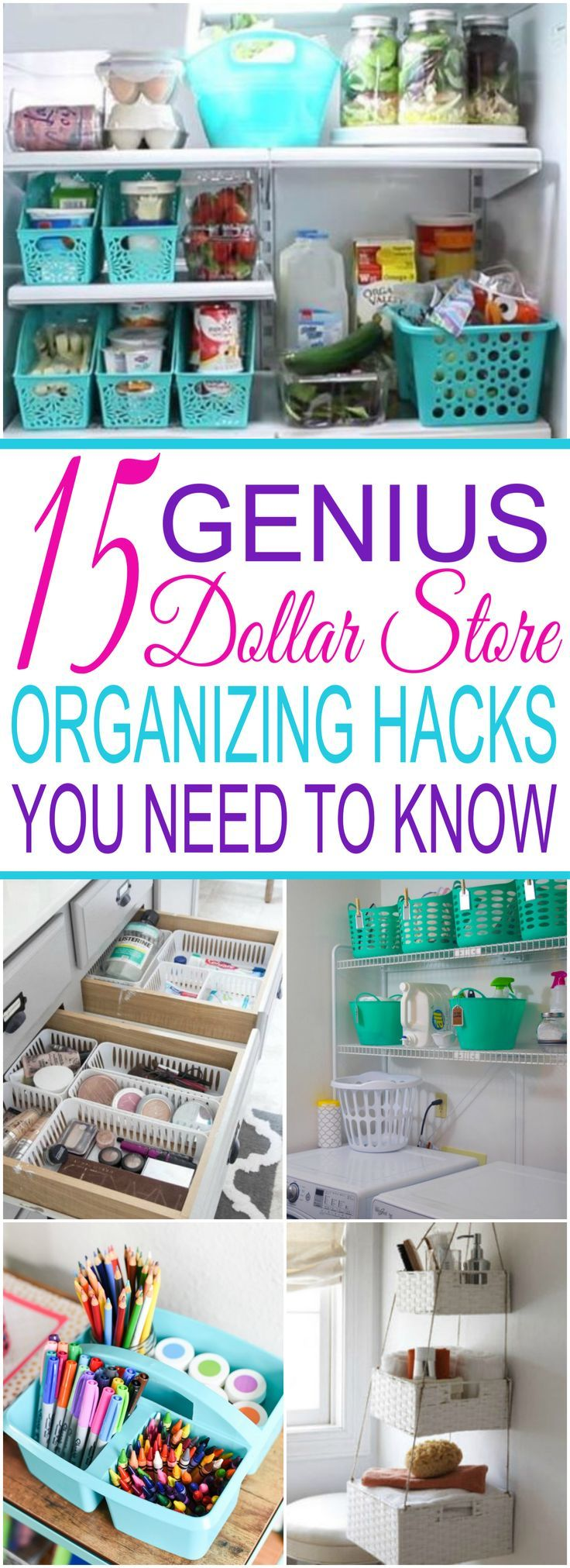 15 Dollar Store Organization Ideas For Every Area In Your Home images