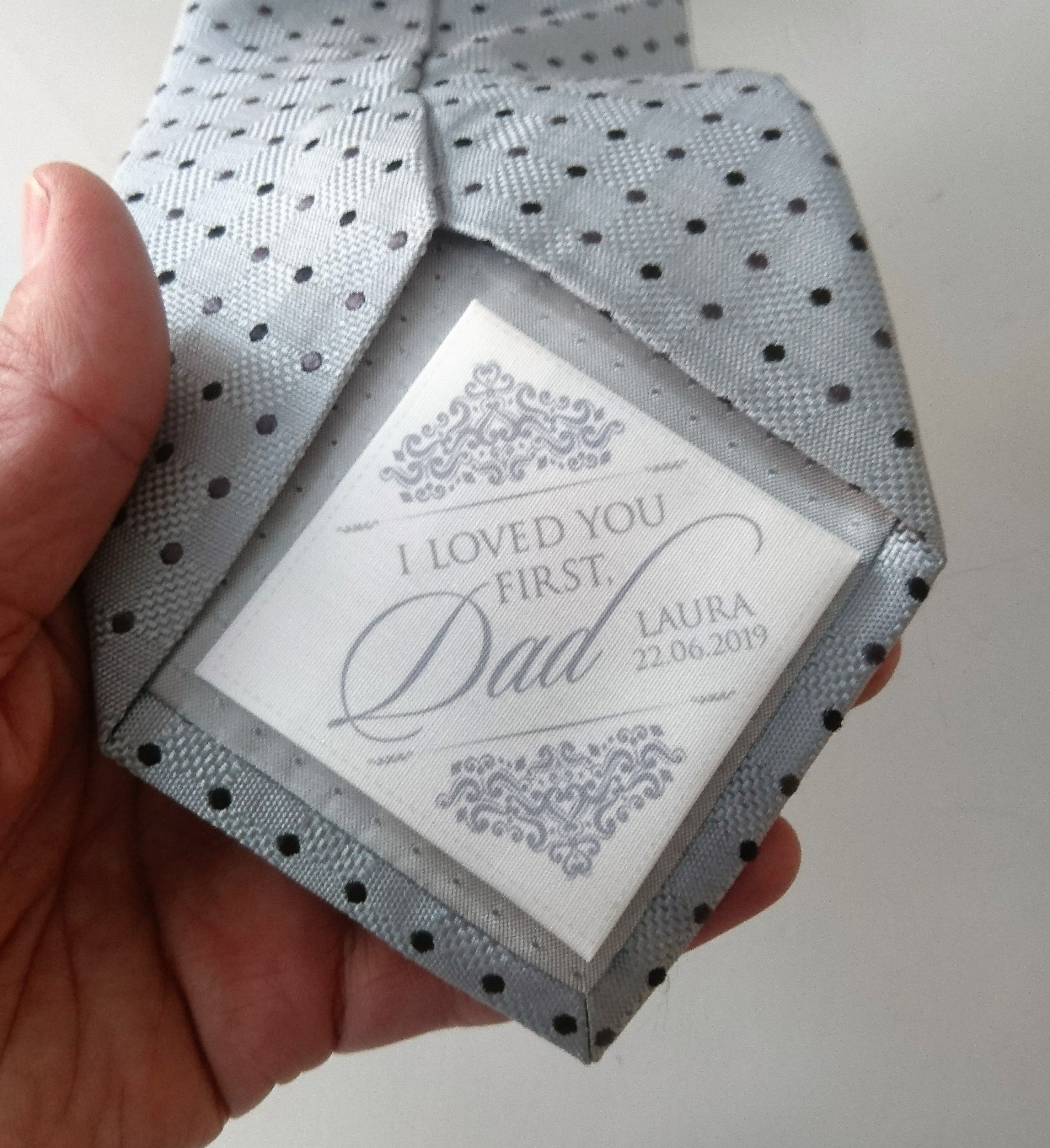 Father of the bride tie patch lewes atelier bride and