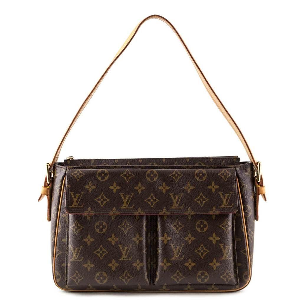 Louis Vuitton Monogram Viva Cite Gm Love That Bag Preowned Authentic Designer Handbags Perfect Handbag Bags Stylish Bag