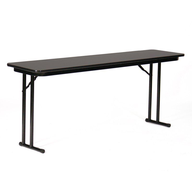 Correll Rectangle Blow Molded Folding Seminar Table Gray Granite Top