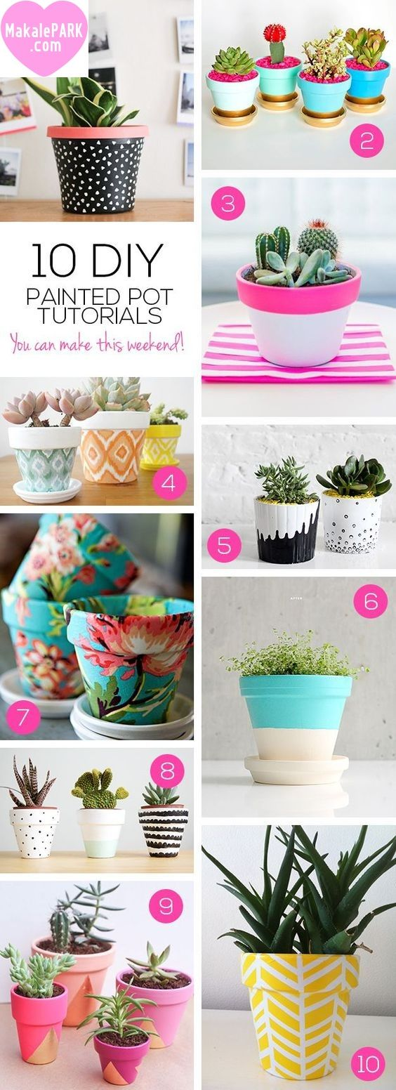 Explore Painted Plant Pots, Diy Projects And More!
