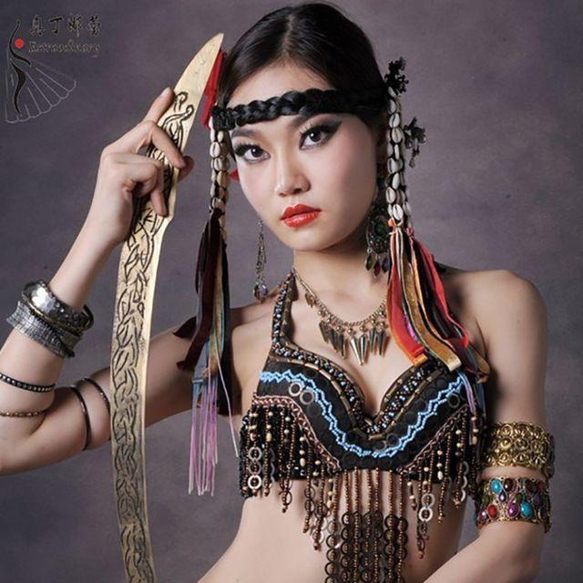 La Danse du ventre Haut Soutien-Gorge pour la Danse Vêtements Performance Ventre…
