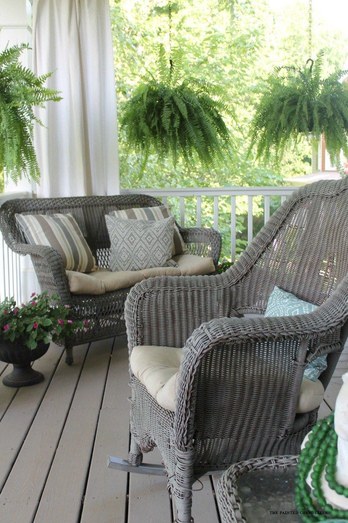 My 2 Favorite Paint Colors For Creating A Weathered Gray Finish Wicker Porch Furniture Painting Wicker Furniture Porch Furniture