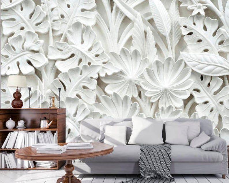 3d Flower Wallpaper 3d Wall Sticker Wall Decor Peel And Stick Etsy Wall Decor Stickers Wall Decor Home Wall Decor