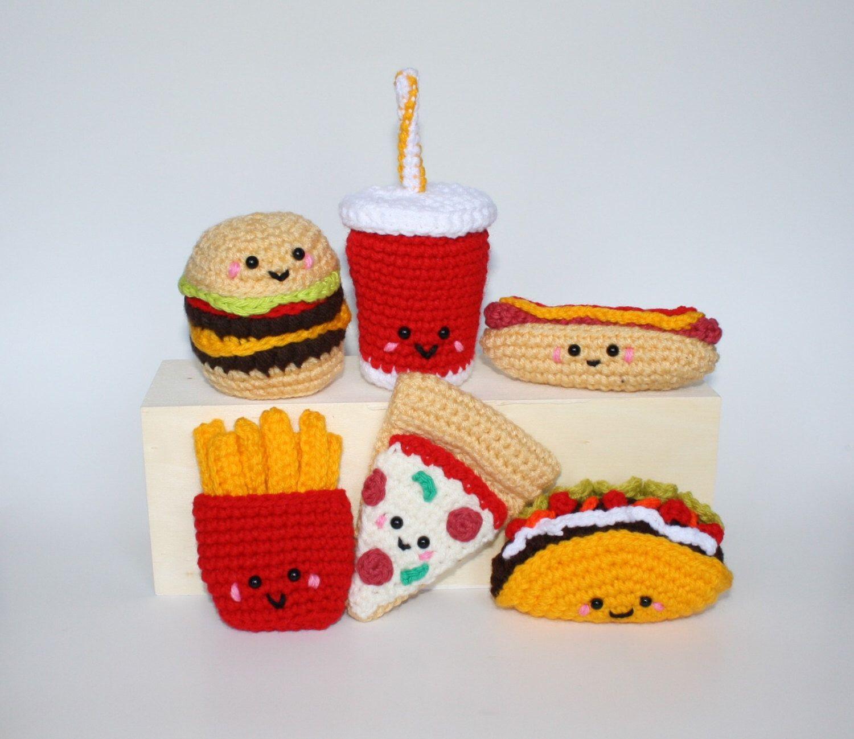 Fast Food Crochet Pattern - Fast Food Friends ebook - hamburger ...