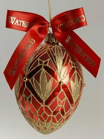 Waterford Christmas Ornaments.Waterford Holiday Heirloom Ornaments Lismore Elegance Egg