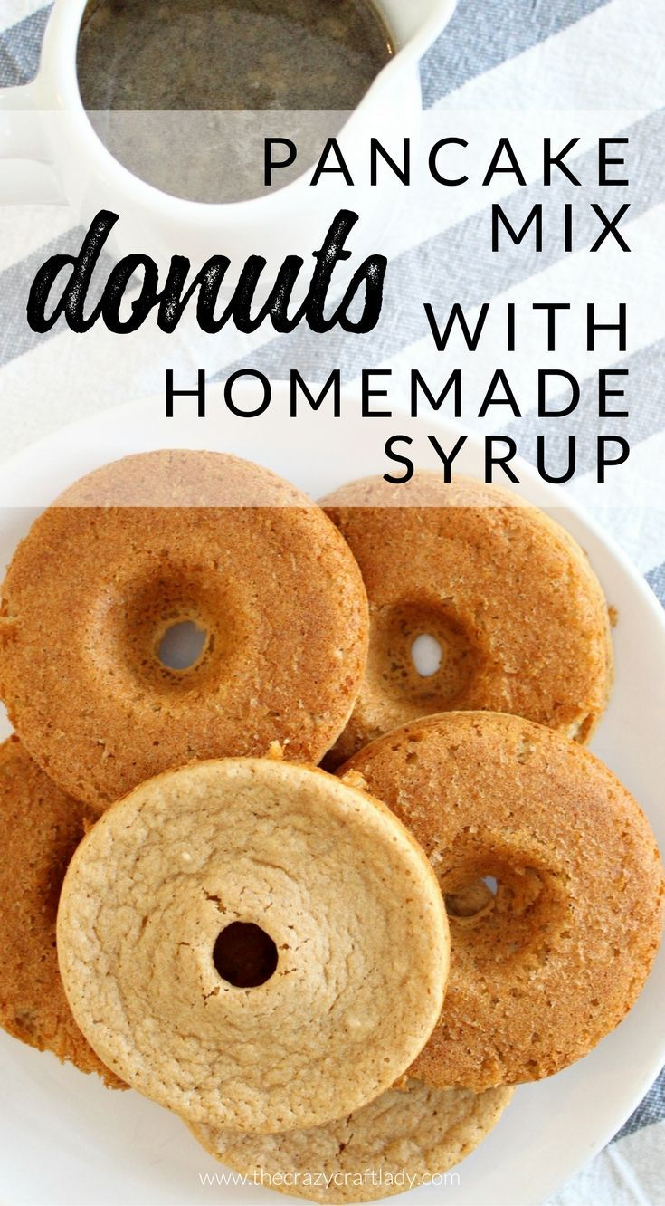 Pancake batter donuts with homemade brown sugar syrup recipe pancake batter donuts with homemade brown sugar syrup recipe brown sugar syrup donut recipes and brown sugar ccuart Images