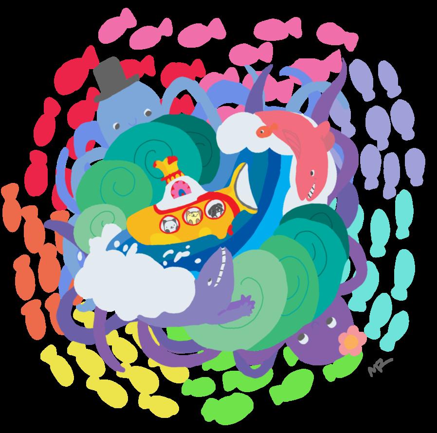 Crazy Color Scheme Octopus Garden By Melissar1 Garden Illustration Crazy Colour Color Schemes