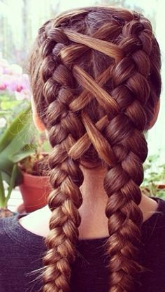 Cute Hairstyles For School Fascinating Infinity Pigtail Braids  Tu Cabello  Pinterest  Pigtail Braids