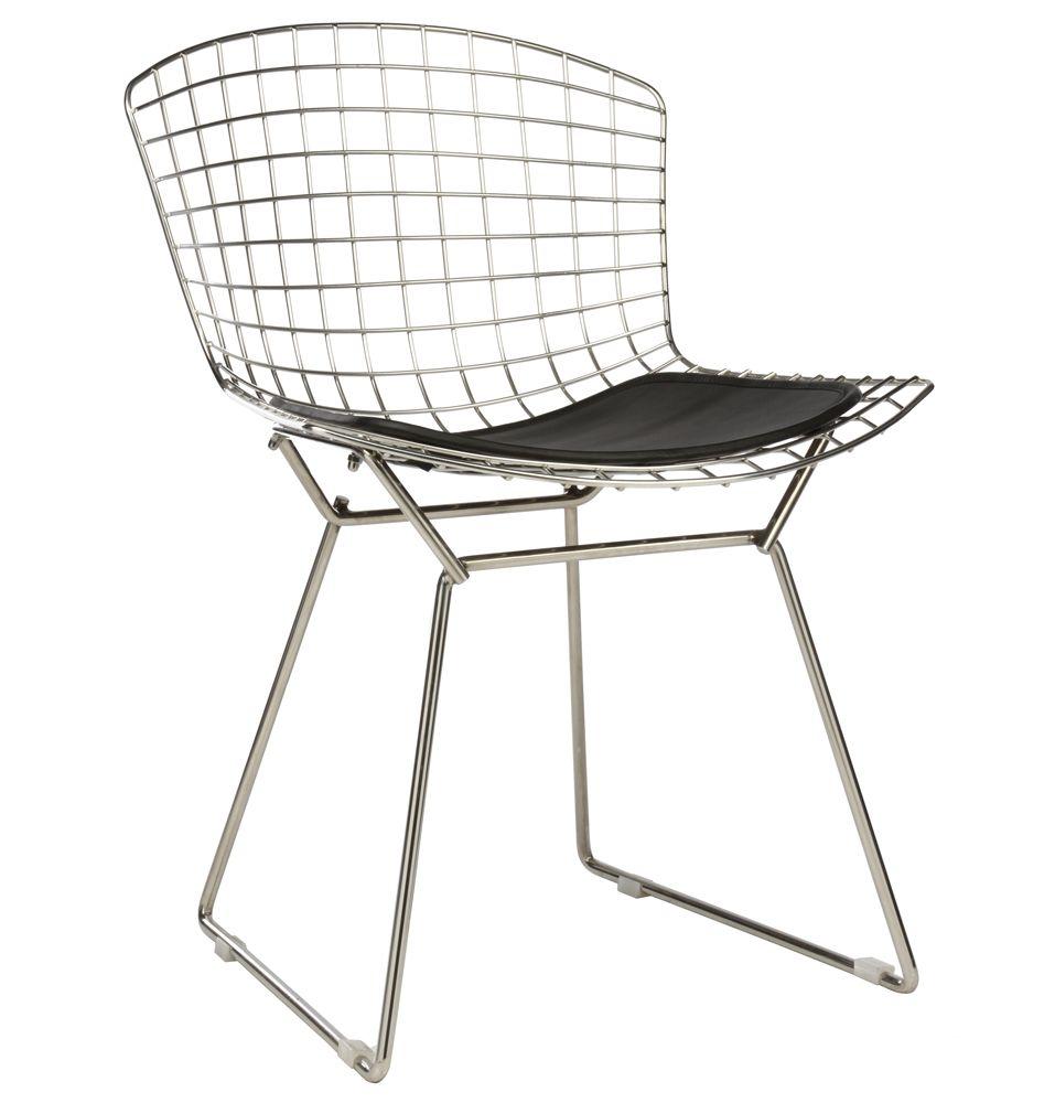 Replica Harry Bertoia Side Chair Stainless Steel Premium Version By Harry Bertoia Matt Blatt Bertoia Chair Chair