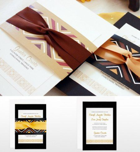 Binta African Themed Wedding Invitation American Pinterest Themes Africans And
