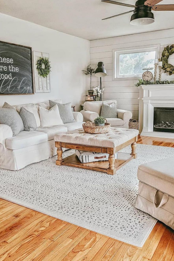 As You Might Noticed Modern Farmhouse Design Look Consist Of A Mixture Of Light And In 2020 Living Room Sofa Design Farm House Living Room Living Room Decor Apartment