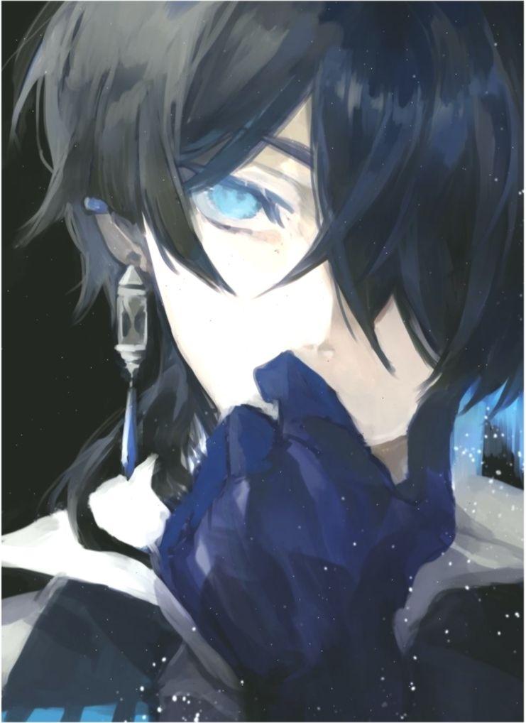 Anime Guy Black Hair Blue Eyes Gloves Art Genel Handschuhe Anime Art Black Blue Eyes Genel Black Hair Blue Eyes Anime Black Hair Blue Anime