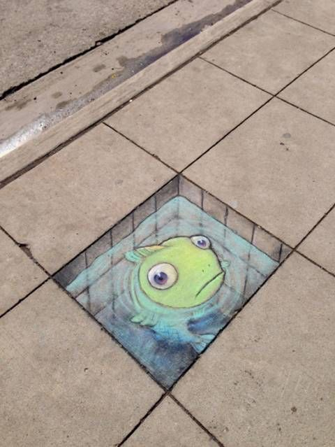 This 3D Chalk Art Takes Sidewalk Drawing To A Whole New Level – giveitlove