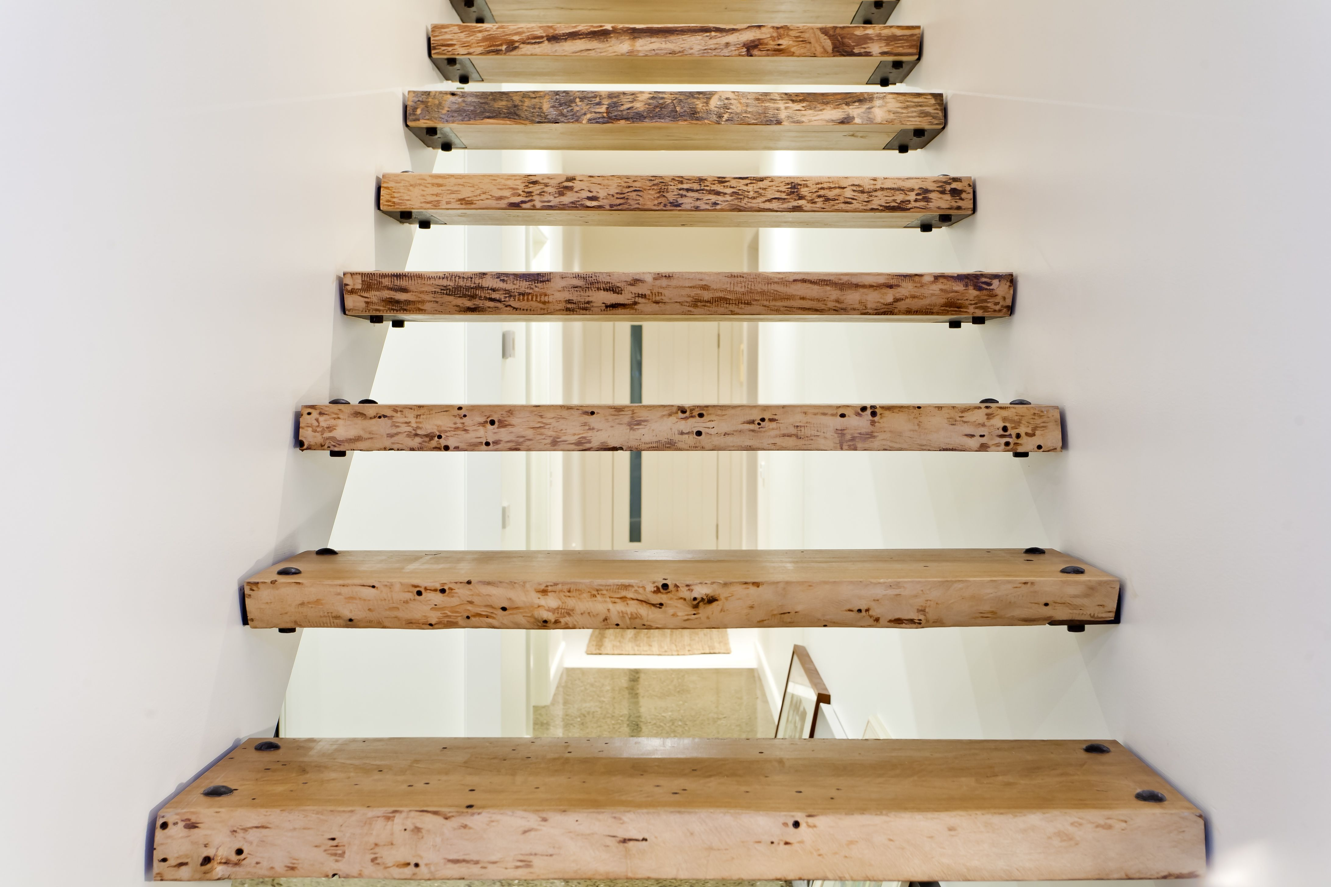 Home interior design staircase beautiful sugar gum stairs  greig design and construction