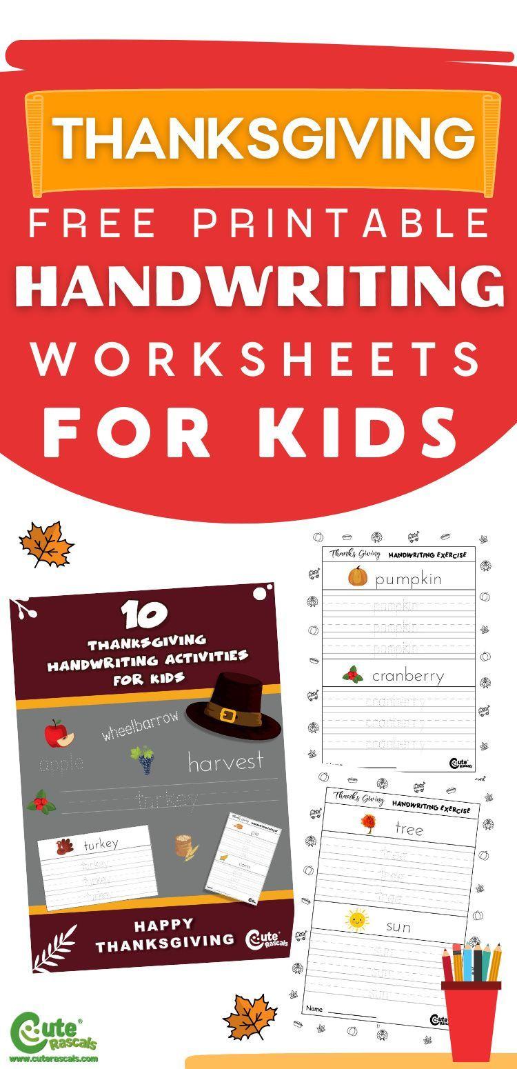 Free Printable Thanksgiving Handwriting Worksheets Handwriting Worksheets For Kids Thanksgiving Lessons Free Printable Handwriting Worksheets [ 1550 x 750 Pixel ]