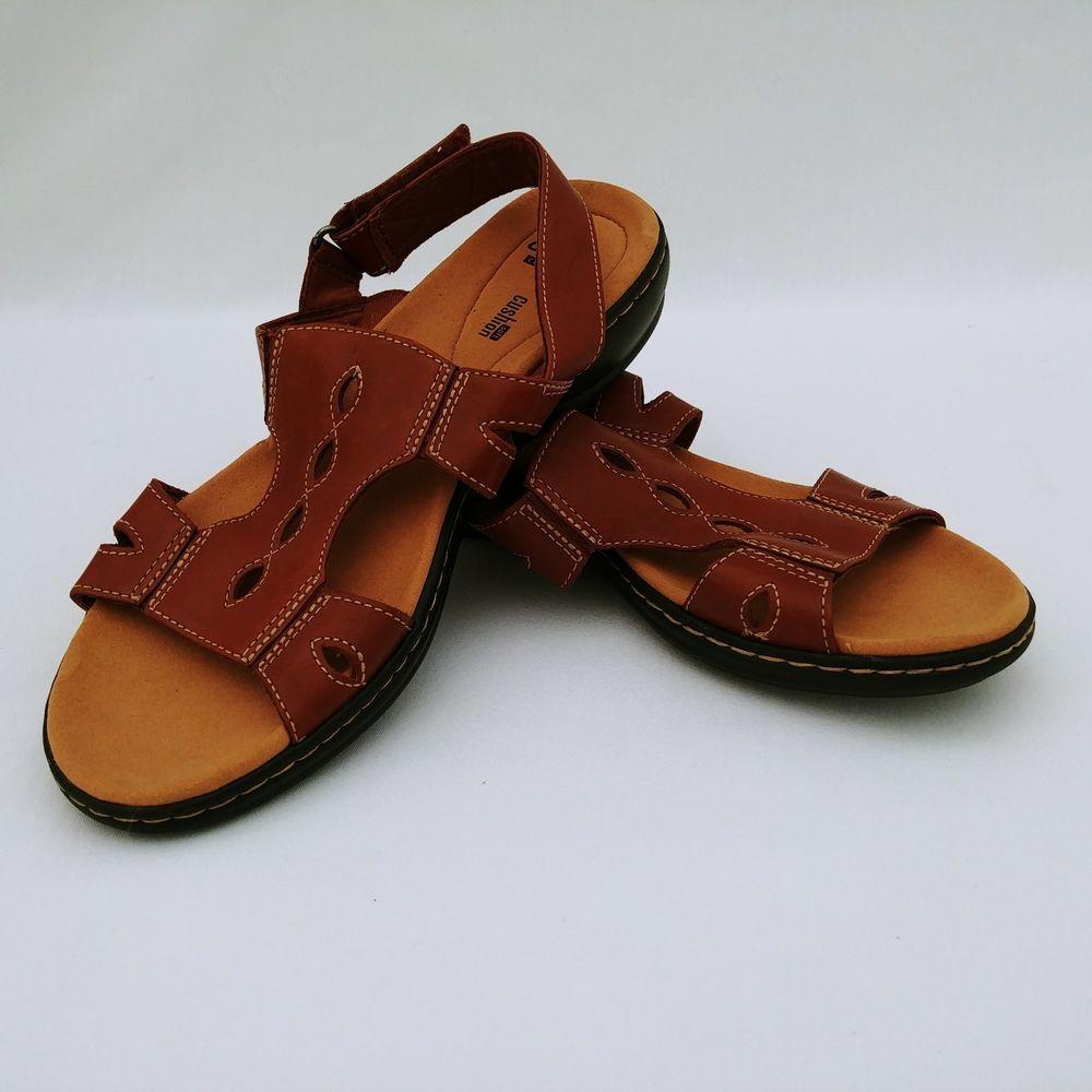 54702dec55f Clarks Womens Sandals Size 10 Flats Brown Open Toe Back Strap  Clarks   FlatSandals  BeachPool