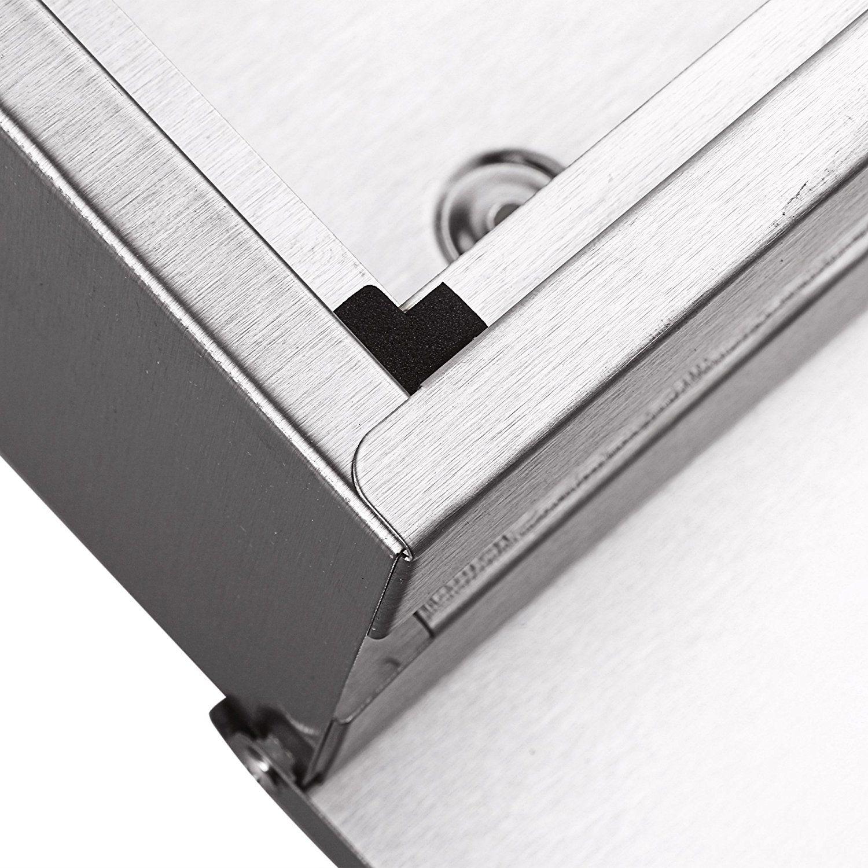 Mailbox stainless steel locking mail box letterbox postal box modern - Zearo Waterpfoof Stainless Steel Lockable Mailbox Newspaper Holder Outdoor Mail Post Letter Box Amazon