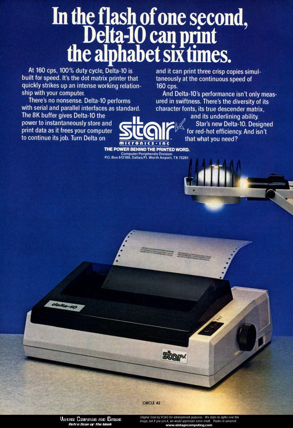 Retro Scan Of The Week Star Dot Matrix Printer Printer Retro Matrix
