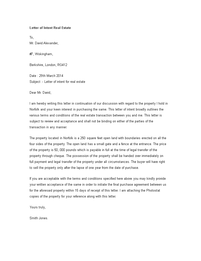 Letter Of Intent Real Estate In How To Create A Letter Of Intent Real Estate In Download This Letter Of Intent Real Es Letter Of Intent Lettering Templates