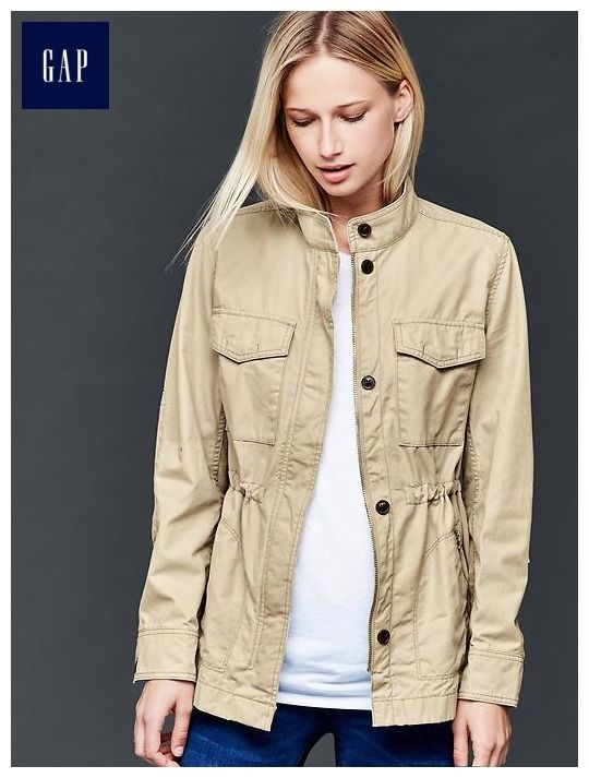 75d202b8b81 Love the look and neutral color of this cotton utility jacket. Perfect for  spring