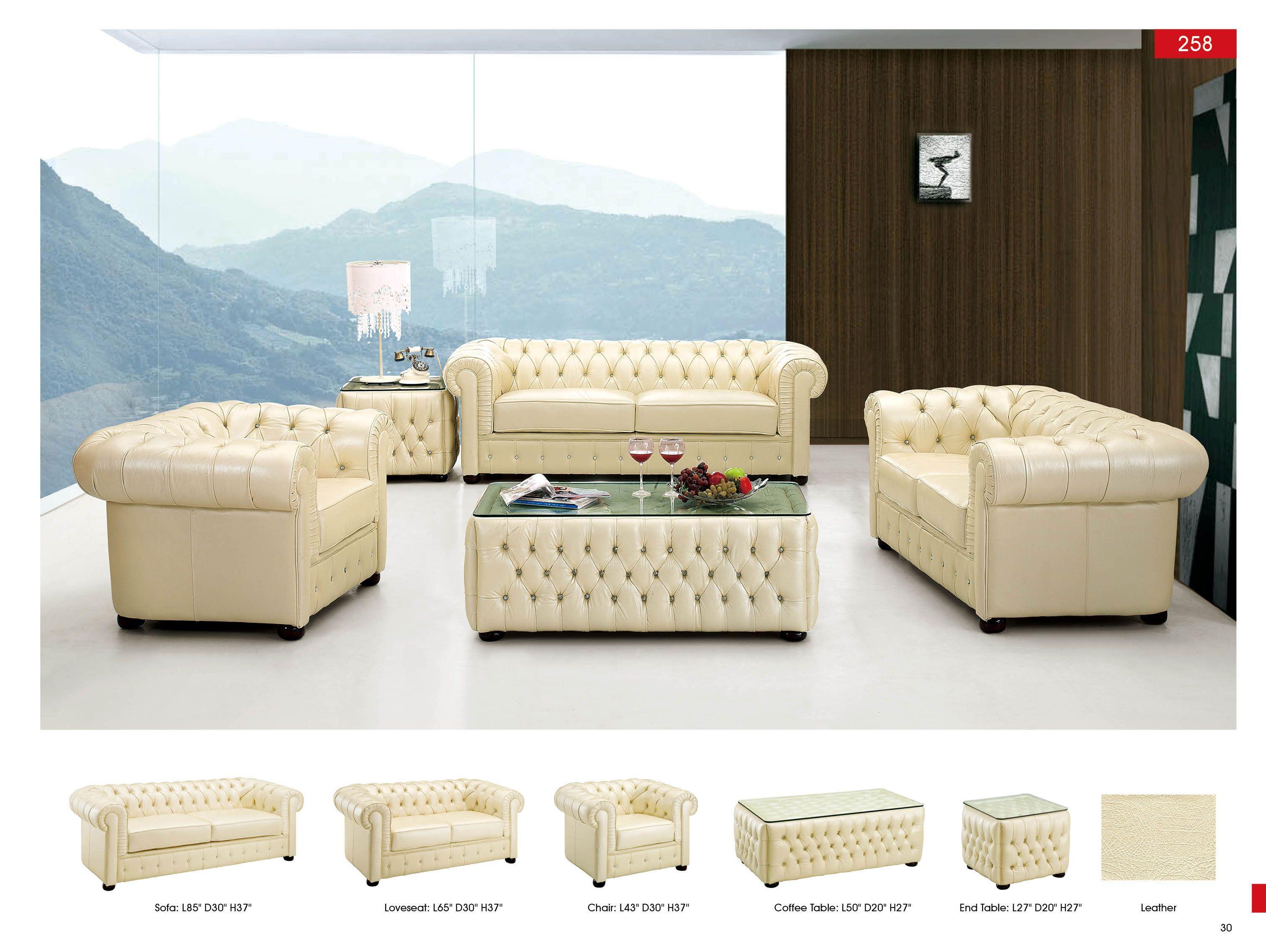Ivory living room set leathersofa sofa furniture