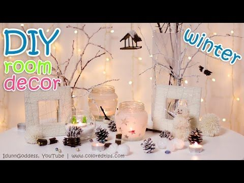 10 Diy Winter Room Decor Ideas Youtube Fai Da Te Video Natale Fai Da Te