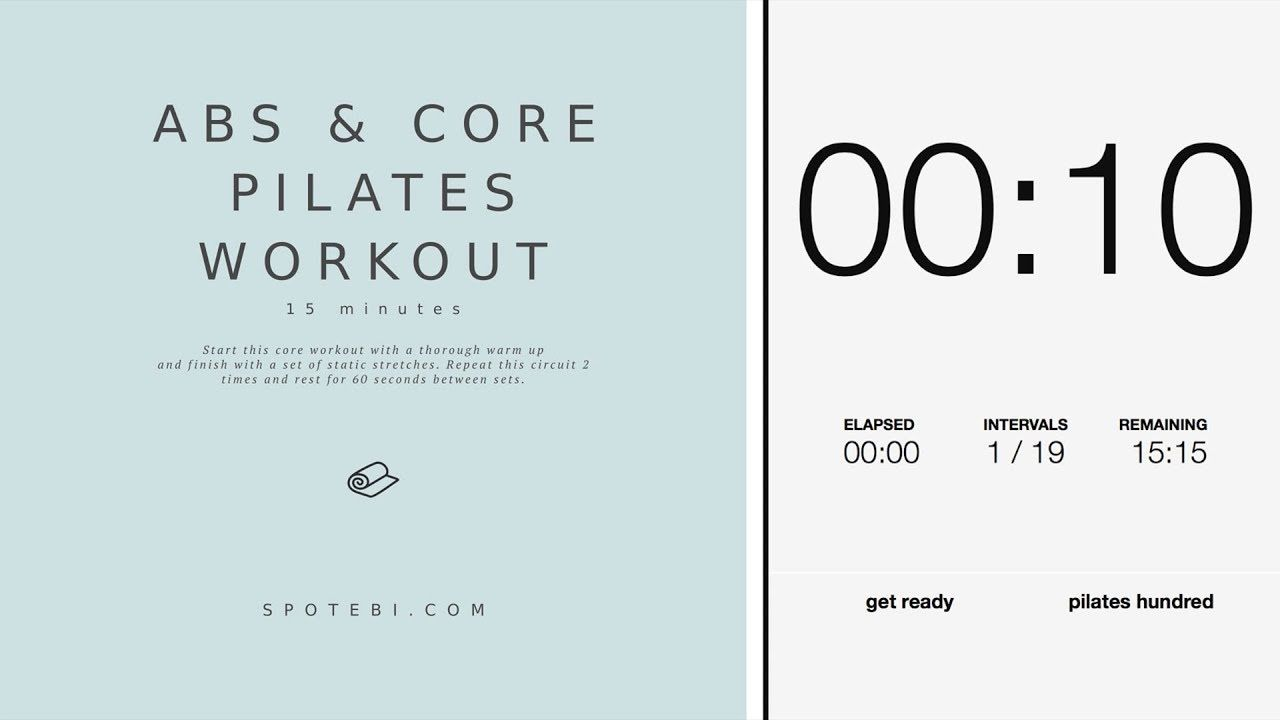 Abs and Core Pilates Workout   SPOTEBI