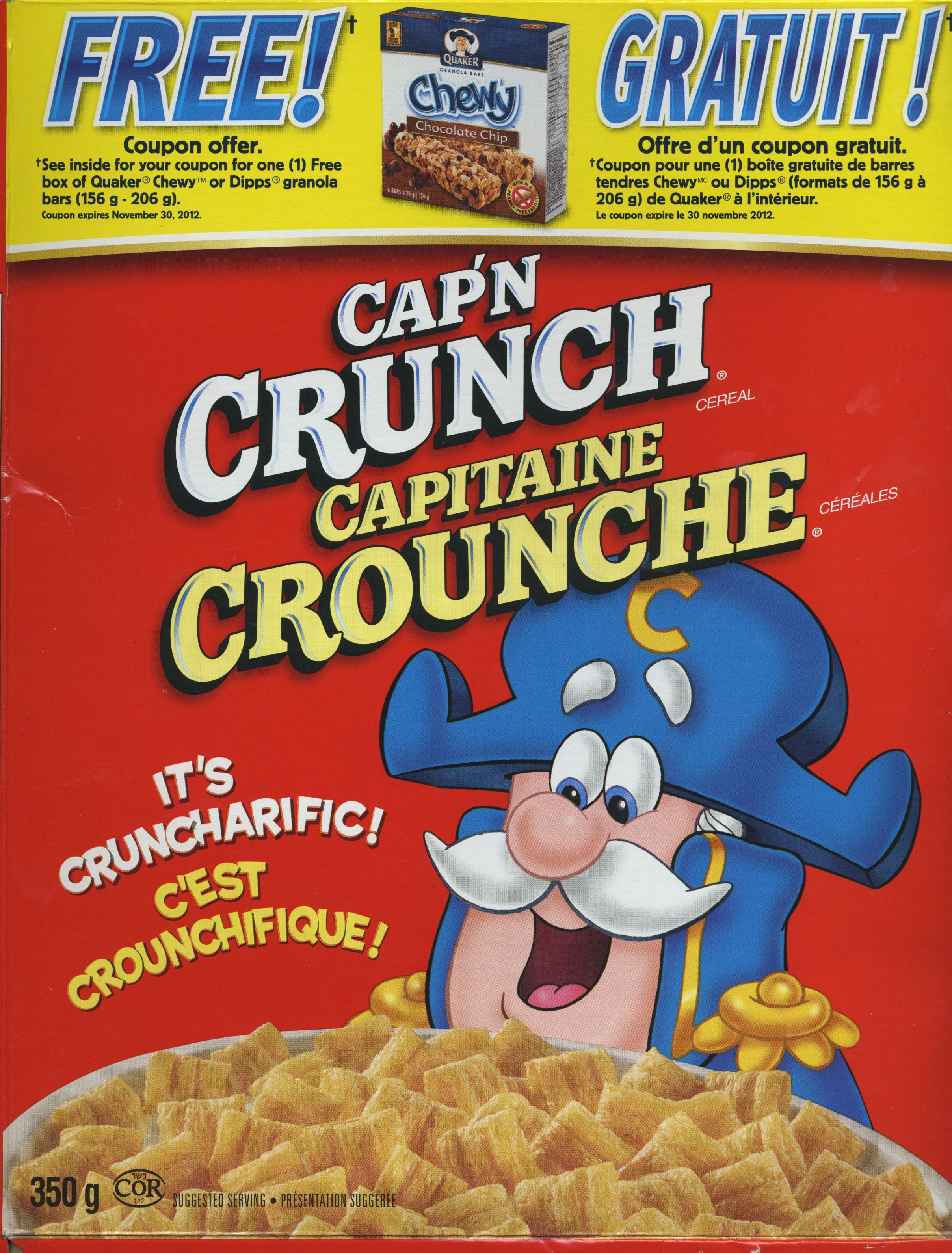 capitaine crounche , canada © quaker oats ca. 2011 | cereals