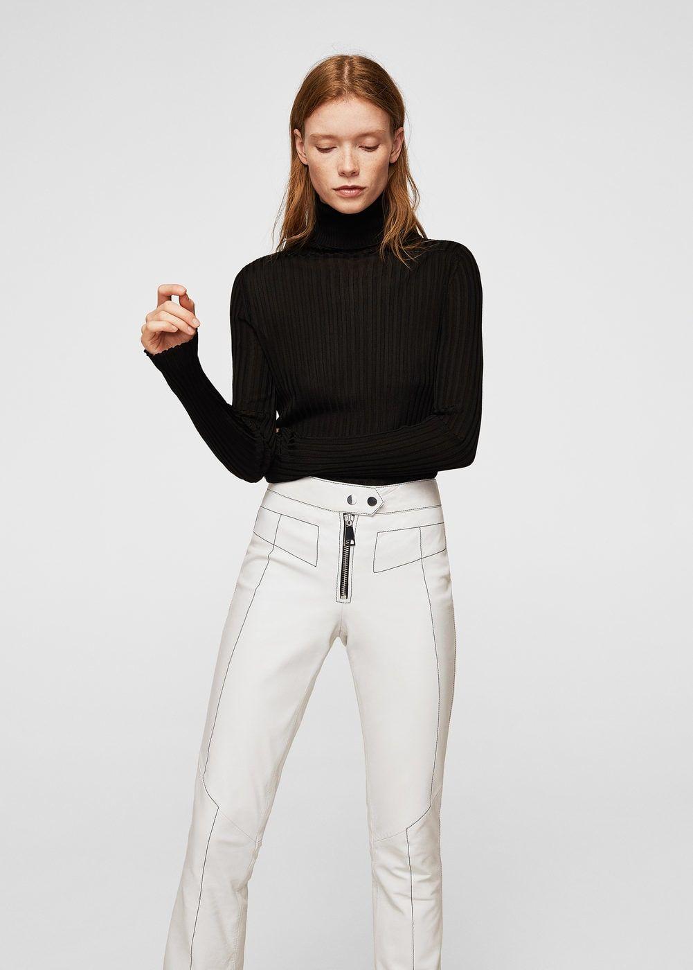 d903218f1aaa Pantalon cuir coutures contrastantes - Femme   CLOTHES   Pinterest ...