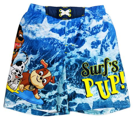 Paw Patrol Boys Official Catch the Waves Swimwear Swimming Shorts Age 3 to 8 Years